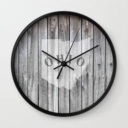 Ohio Map Barn Wall Wood Rustic Home Wall Clock