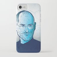 steve jobs iPhone & iPod Cases featuring Steve Jobs by BTillustration