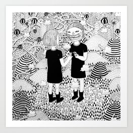 Siamese Twin Art Print