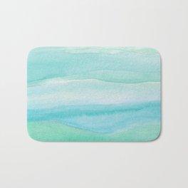 Ocean Layers - Blue Green Watercolor Bath Mat