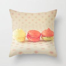 Sweet Baby Macaroons Throw Pillow