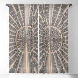 Lattice of Pathways Sheer Curtain