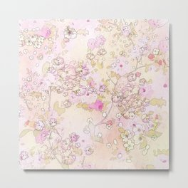 Pink lovely flower mix Metal Print