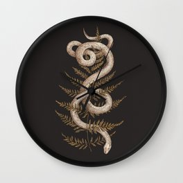The Snake and Fern Wall Clock