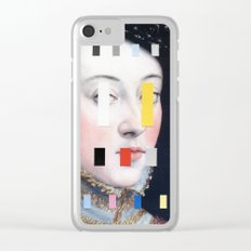 Portrait With A Spectrum 4 Clear iPhone Case