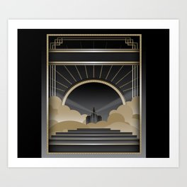 Art deco design V Art Print