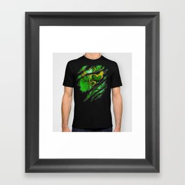 Iron Daniel Thomas Fist Chest Ripped Torn tee tshirt Framed Art Print