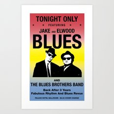 Blues Brothers Play On Art Print