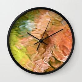 Coral Mosaic Abstract Art Wall Clock