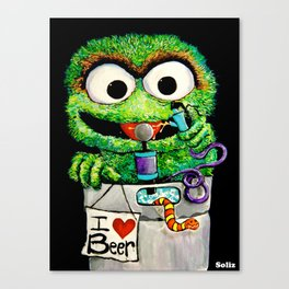 THE GROUCH Canvas Print