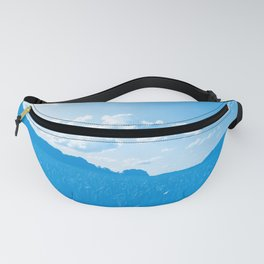 meadow and clouds wb Fanny Pack
