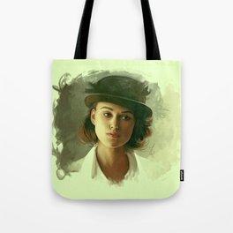 Keira Knightley in hat Tote Bag
