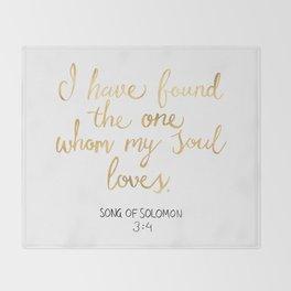 Song of Solomon 3:4 - Customer Request Throw Blanket