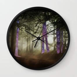 Forest warp out Wall Clock