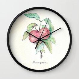 Prunus Persica Wall Clock