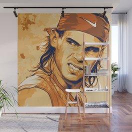 rf, roger federer, roger, federer, tennis, wimbledon, grass, tournament, ball, legend,  Illustration Wall Mural