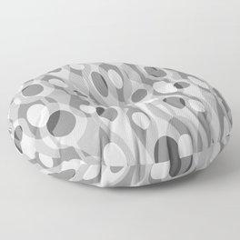 Gray Mid Century Modern Oval Geometric Floor Pillow