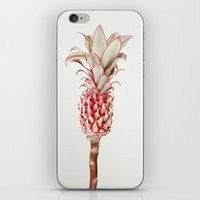 pinapple iPhone & iPod Skins featuring La Pina by InteriorEpiphanies
