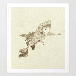 fish suit Art Print