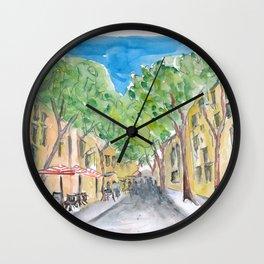 Barcelona Morning Walk at La Rambla Wall Clock
