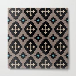 Southwestern Crossed Arrows Pattern 723 Metal Print