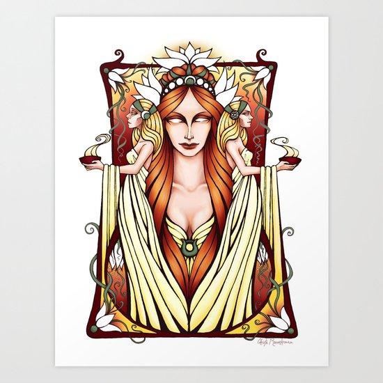 Sing to Me, O Muse Art Print