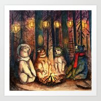 helen green Art Prints featuring Camp Meeting By Helen Green by Bear Picnic