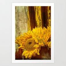 You Are My Sunshine -- Sunflower Botanical Still Life Art Print