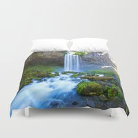 waterfall Duvet Covers featuring Waterfall by 2sweet4words Designs