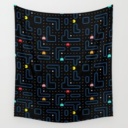 Pac-Man Retro Arcade Gaming Design Wall Tapestry