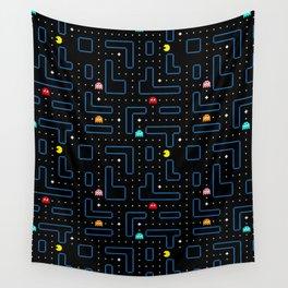 Pac-Man Retro Arcade Gaming Design Wall Tapestry