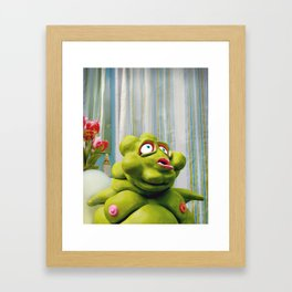 Meet Chester: In the Ladies Room Framed Art Print