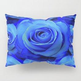 AWESOME BLUE ROSE GARDEN  PATTERN ART DESIGN Pillow Sham