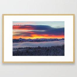 Sunrise over the White Clouds Framed Art Print