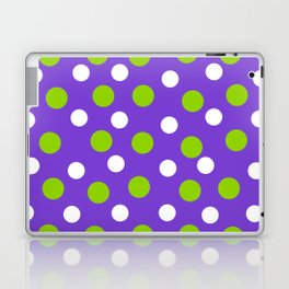 Purple with white and green dots Laptop & iPad Skin