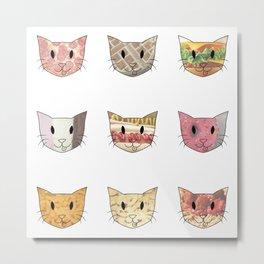 Food & Cats Metal Print