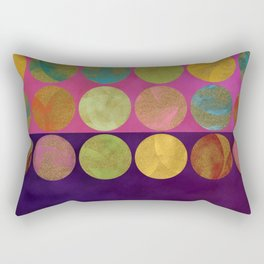 abtract painted dots gold pink purple Rectangular Pillow