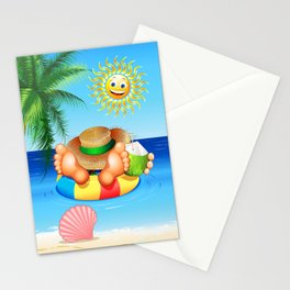 Summer Relax on the Sea Stationery Cards