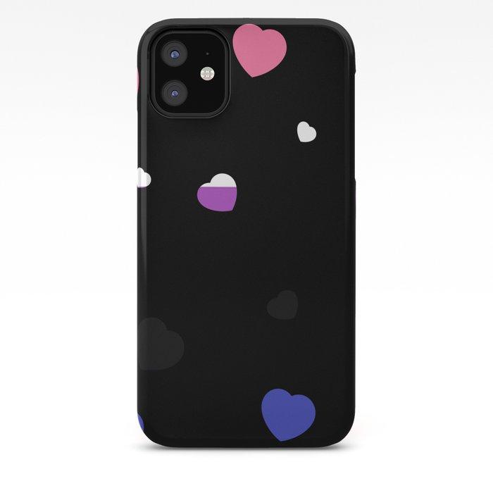 Chaotic Hearts, Pride Flag Series: Genderfluid iPhone Case