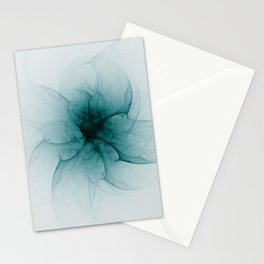 Dark Flower Fractal Stationery Cards