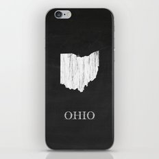 Ohio State Map Chalk Drawing iPhone & iPod Skin