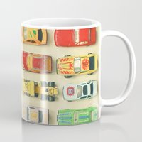 photograph Mugs featuring Car Park by Cassia Beck