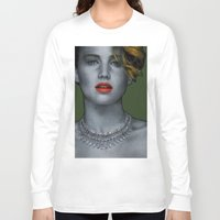 jennifer lawrence Long Sleeve T-shirts featuring Jennifer Lawrence by Marv Castillo
