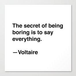 Voltaire on Conversation Canvas Print