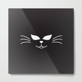Cool Cat Face Metal Print