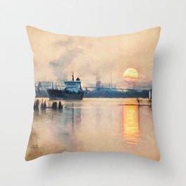 International sunset Throw Pillow