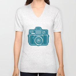 I Still Shoot Film Camera Logo Unisex V-Neck