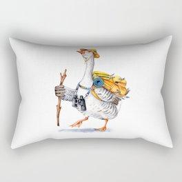 Hiking Goose Rectangular Pillow