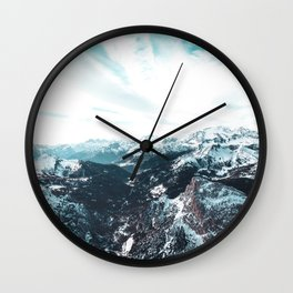 Stormy Cold Day Wall Clock