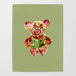 Painted Teddy Bear Poster